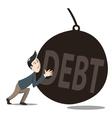 debt pushing vector image vector image