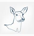 deer animal wild one line design vector image