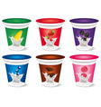 design milk yogurt cream with strawberry blueberr vector image