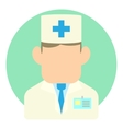 Doctor icon flat style vector image