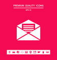 email symbol icon graphic elements for your vector image
