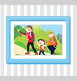 Family Play3 Photo vector image vector image