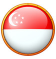 flag of singapore on round frame vector image vector image