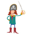 funny fantasy pirate cartoon vector image