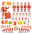 funny santa claus cartoon character with christmas vector image vector image