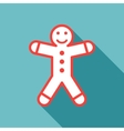 gingerbread man on blue background vector image