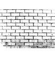grunge brick wall texture vector image vector image
