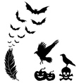 halloween design elements set vector image vector image