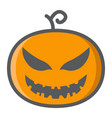 halloween pumpkin filled outline icon halloween vector image