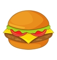 Hamburger icon cartoon style vector image