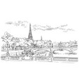 hand drawing paris 8 vector image vector image