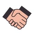 hands teamwork design vector image vector image