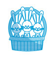 happy easter bunny basket ornament celebration vector image vector image