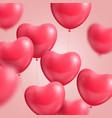 hearts balloon realistic vector image vector image