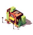isometric auto parts shop vector image