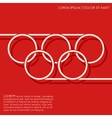 Line rings background vector image vector image