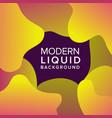 liquid color background design fluid gradient vector image vector image