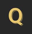 logo letter q gold vintage vector image vector image