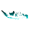 Map of Indonesia vector image vector image