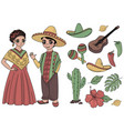 mexico fairy clip arts color vector image