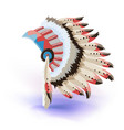 native american indian headdress color vector image vector image