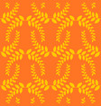 olive branch seamless pattern golden floral vector image