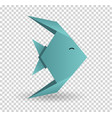 origami paper art icon graphic vector image vector image