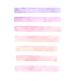 painted watercolor set of pink brushstrokes vector image vector image