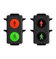 pedestrian traffic lights vector image vector image