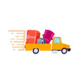 relocation freight truck icon vector image