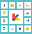 set of technology icons flat style symbols with vector image vector image