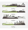 set status Bar and factories renewable energy vector image vector image