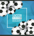 soccer sport poster with balloons vector image vector image