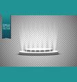 spotlights scene light effects podium vector image vector image