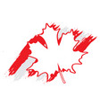 textured flag of canada vector image vector image