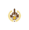 town beer logo icon design vector image
