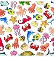 Underwater cartoon seamless pattern background