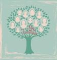 vintage genealogy tree genealogical family tree vector image vector image