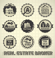 Vintage Real Estate Labels and Icons vector image vector image
