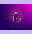 water cooler bottle line icon refill aqua sign vector image vector image
