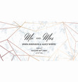 wedding template card mr and mrs signs vector image