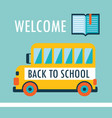welcome back to school background flat design vector image vector image