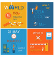 world no tobacco day stop smoking 31 may banner vector image vector image