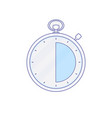 alarm clock hour minute time timer icon vector image