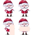 Santa Claus collection of Christmas Characters vector image