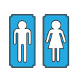 Restroom banners toilet signs vector image