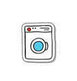 washing machine doodle icon vector image