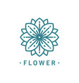 abstract flower line art for logo template vector image
