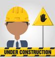 archictec man under construction concept vector image vector image