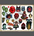asian masks vector image vector image